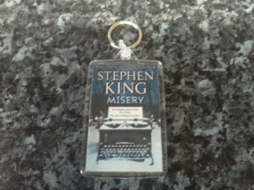 Misery Jumbo Keyring. Stephen King Book Art. Horror